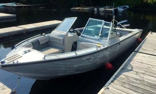 18' Crestliner Boat In Eagle Bay