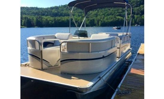Rent 20' Pontoon Boat In Eagle Bay