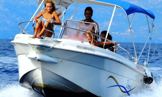 Vittoria Matu 19 Speed Boat Rental In Loggos, Paxos, Greece