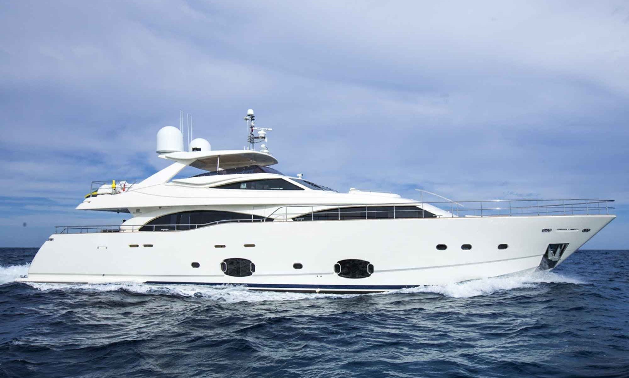 97' Ferretti State-of-the-art Mega Yacht loaded with toys
