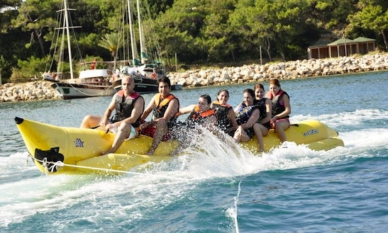 Enjoy Banana Rides In Antalya, Turkey