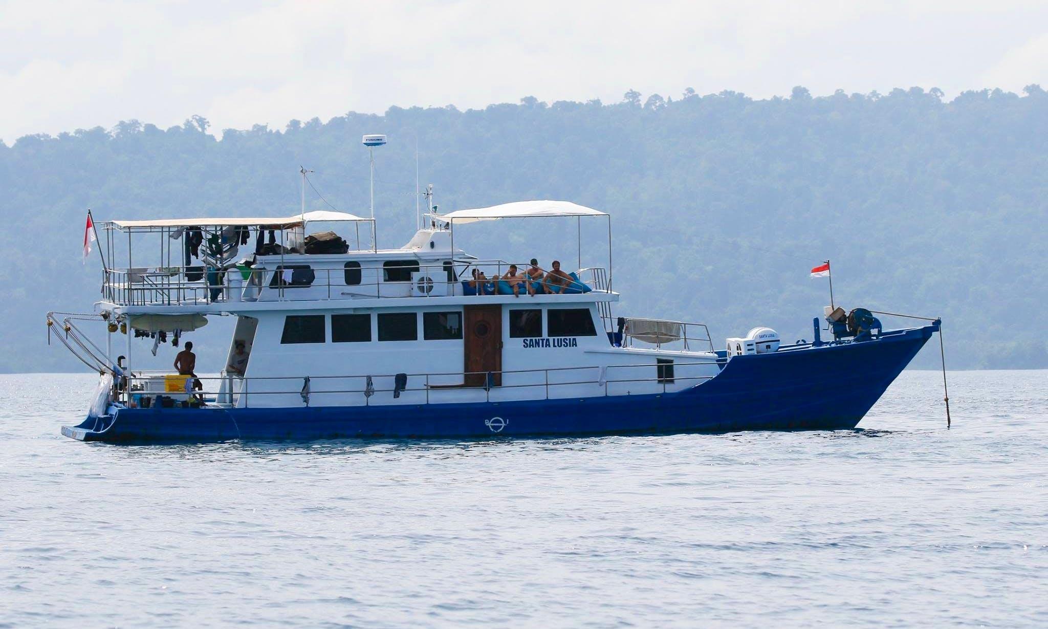 Enjoy Surf Charter in Padang, Indonesia on 65' Santa Lusia Power Mega Yacht