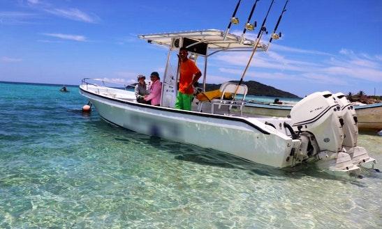 Enjoy Fishing On 26' Martinez Power Boat In Utila, Honduras