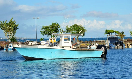 Center Console Fishing Charter In Deshaies, Guadeloupe