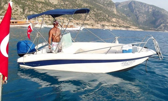 Explore Muğla, Turkey On A Bowrider Boat Charter