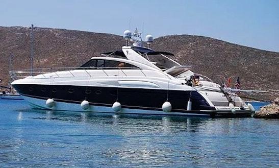 Charter 65' Princess V65 Power  Yacht Summer Isle Mykonos  Greece .