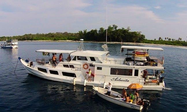 Enjoy Surf Charter in Padang Timur, Indonesia on 70' Aileoita 1 Power Megha Yacht