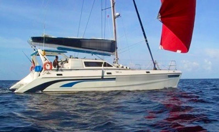 "Charter ""Kingfish""  Knysna 440 Sailing Yacht In Maldives"