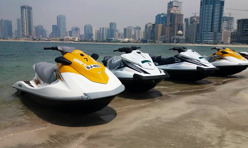 See Dubai's Skyscrapers From the Water on a jet ski rental
