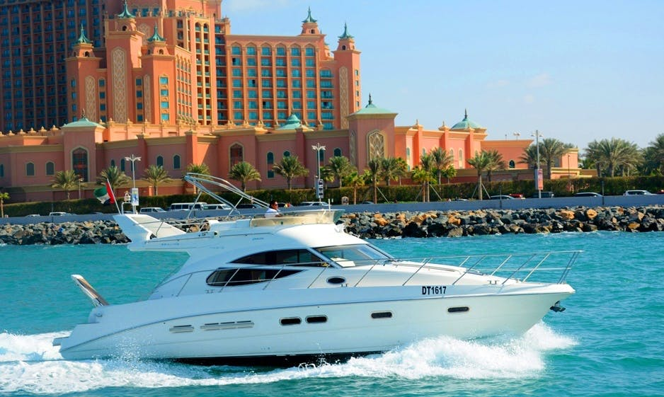 Charter our 45' British Sealine Yacht From Dubai