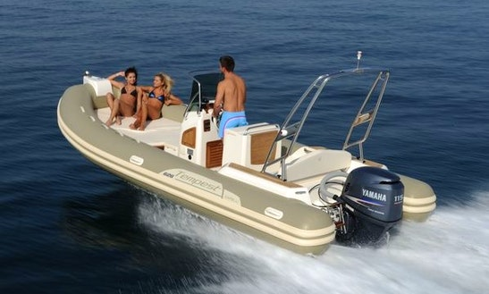 Rent 21' Capilli Tempest Rigid Inflatable Boat In Saint-gilles Les Bains, Reunion