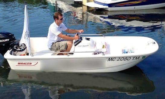 11ft Boston Whaler 110 Sport Deck Boat Rental In Lexington, Mi