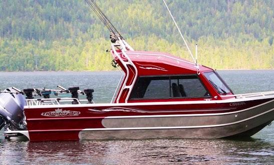 Fishing On 22' Thunderjet Chinook Boat In West Kelowna, Canada