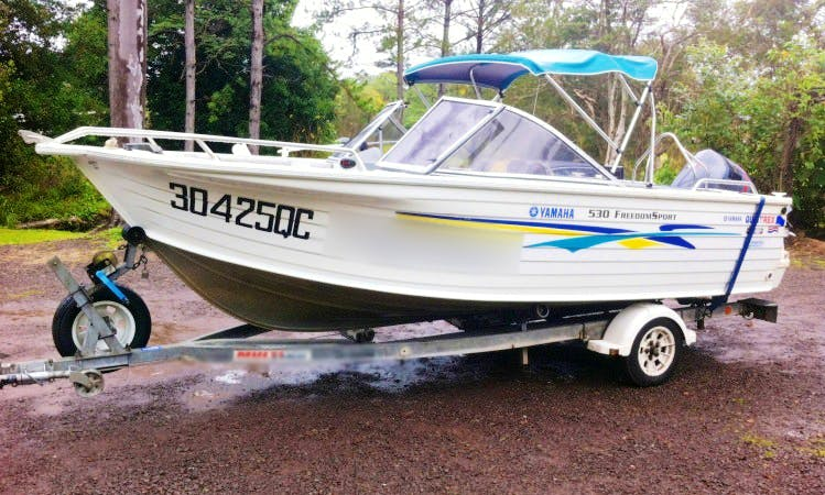 Trailer Boat Hire in Sunshine Coast in Queensland, Australia