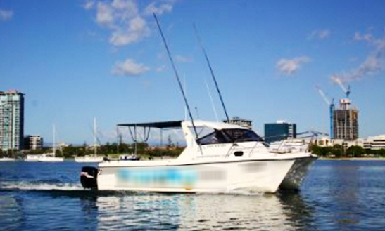 Enjoy Fishing At Main Beach, Queensland On 28' Power Catamaran