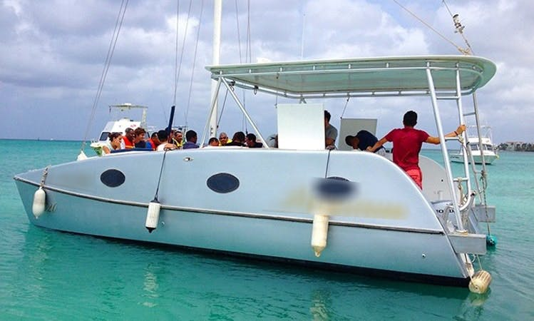 "Private Sail and Snorkeling Trip on 32ft ""Isabella"" Catamaran in Oranjestad, Aruba"