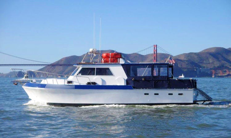 "Rent the 38' ""Hyperfish"" Delta Fishing Boat in San Francisco (Captained Only)"