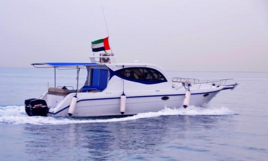Enjoy Fishing In Dubai, United Arab Emirates On 40' Cabin Cruiser Cuddy Cabin