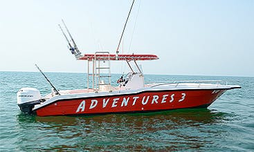 Deep Sea Fishing Charter Aboard the Red Center Console for 11 People!