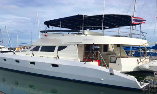 Charter 41' Red Star Power Catamaran In Pattaya Na Chom Thian, Thailand