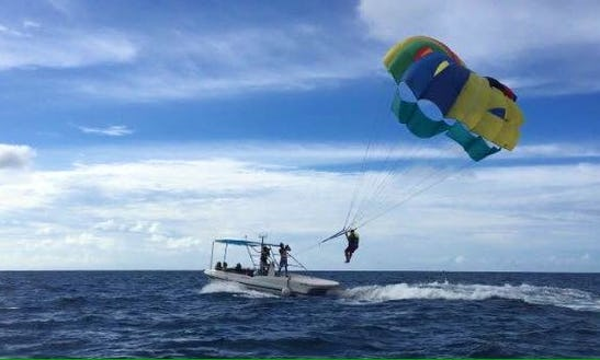Enjoy Parasailing In Maafushi, Maldives