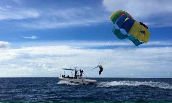 Enjoy Parasailing In Maafushi, Maldives
