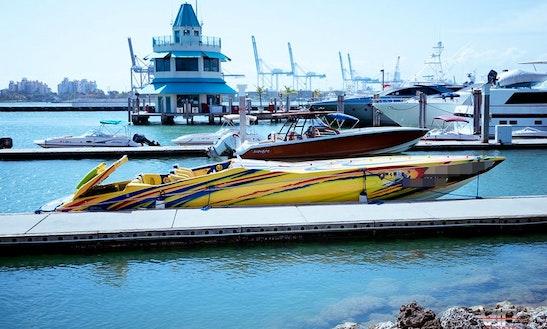 42' Cigarette Tiger Speed Boat Rental In Miami Beach, Florida