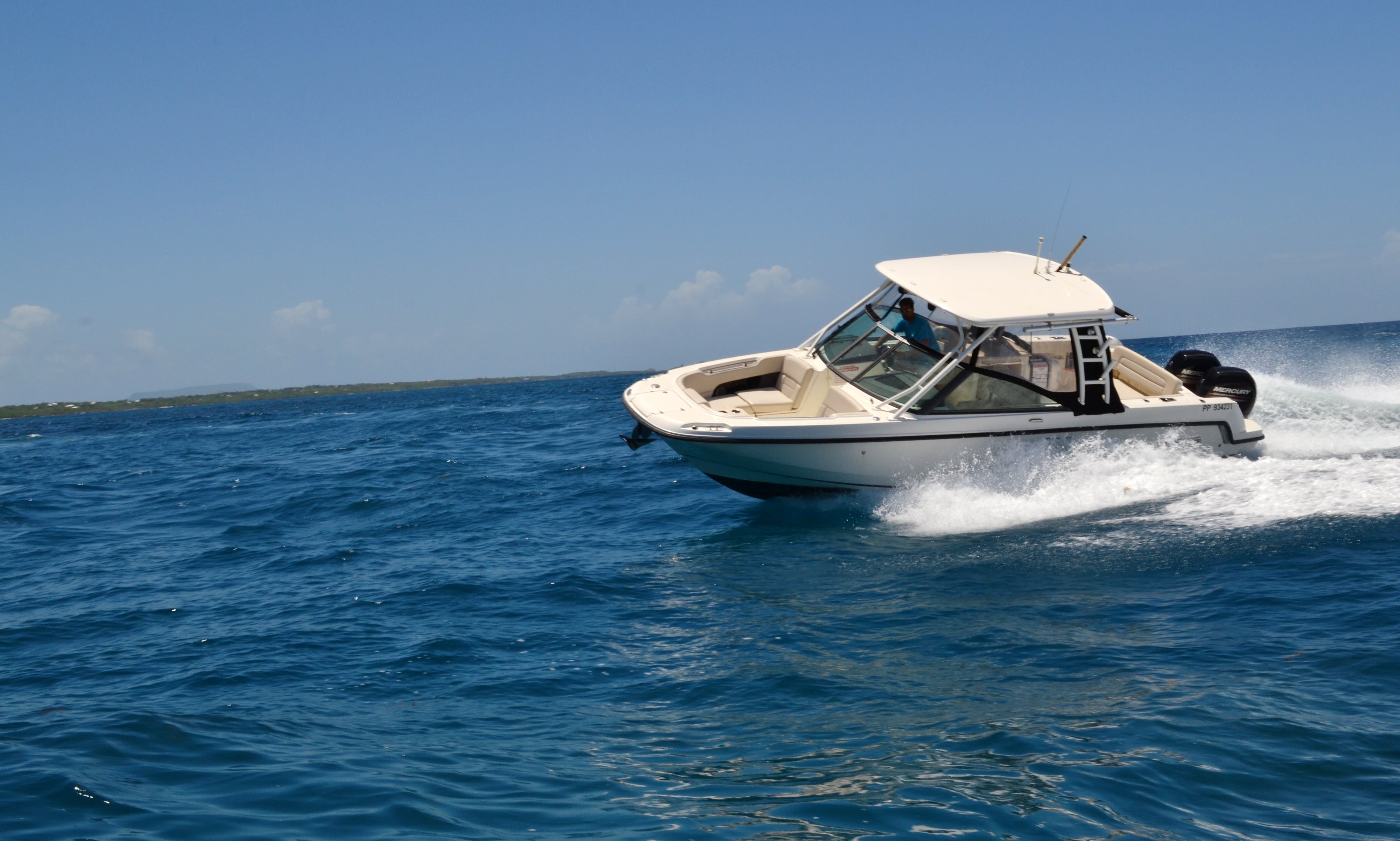 "Explore Grande-Terre, Guadeloupe on ""Espérance"" Boston Whaler Boat"