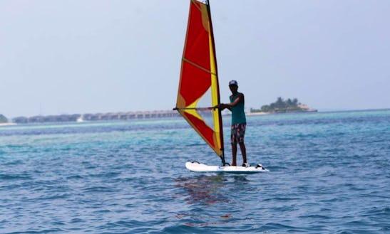 Enjoy Winsurfing In Gulhi, Maldives