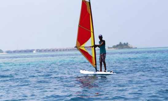 Enjoy Winsurfing In Gulhi, Maldives