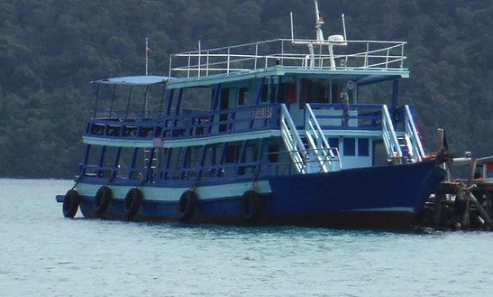 Charter 89' Passenger Boat In Sihanoukville, Cambodia