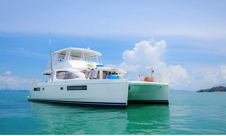 Charter 51' Power Catamaran in Tambon Bang Si Thong, Nonthaburi