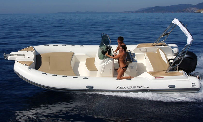 Charter 23' Capelli Rigid Inflatable Boat in Saint-Tropez, France