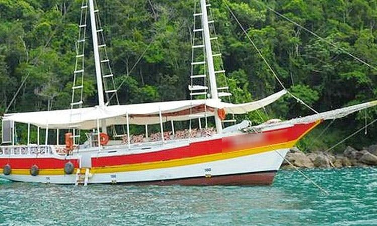 Amazing Boat Trips aboard 30 Person Traditional Boat in Paraty Bay, Rio de Janeiro