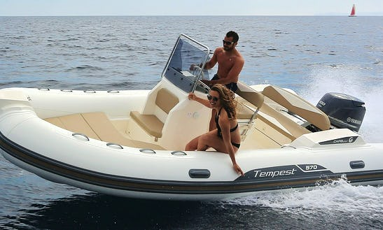 Rent 16' Capelli 5 Rigid Inflatable Boat In Loano, Italy