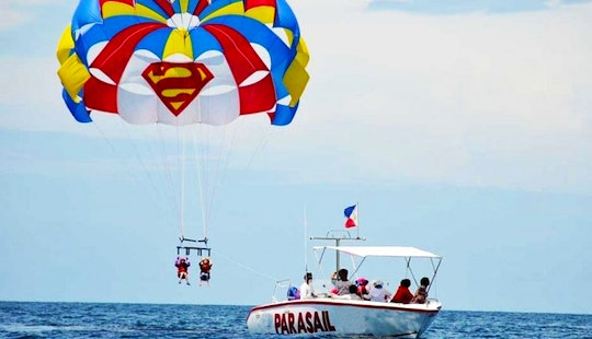 Solo Parasailing Or Double In Malay, Philippines