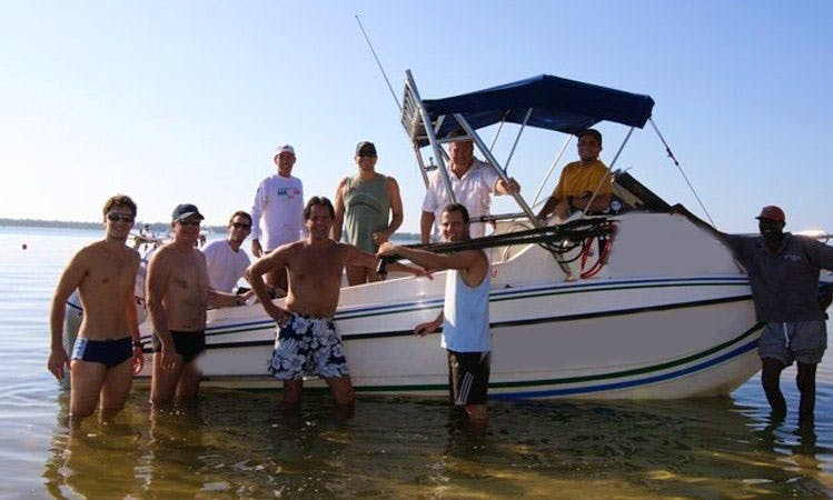 Fishing in Maxixe, Mozambique on Cuddy Cabin