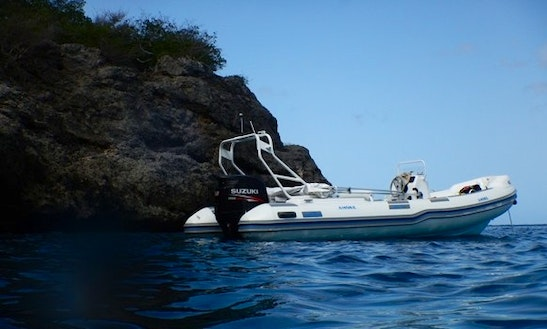 Private Boat Tour On 20' Super Rigid Inflatable Boat In Willemstad, Curaçao