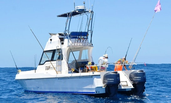 Enjoy Fishing In Cape Town, South Africa On 32' Extravagence Cuddy Cabin
