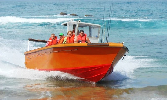 Enjoy Fishing In Port Edward, Kwazulu-natal On A Center Console
