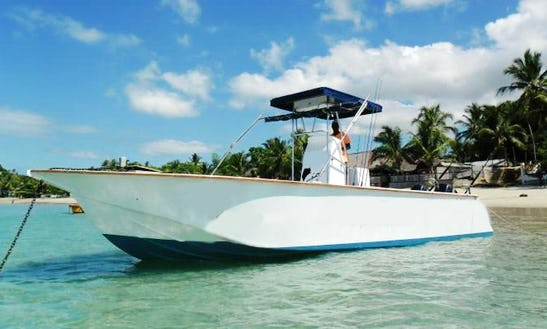 Madagascar Fishing Charter On 36' Center Console With Captain Bertrand