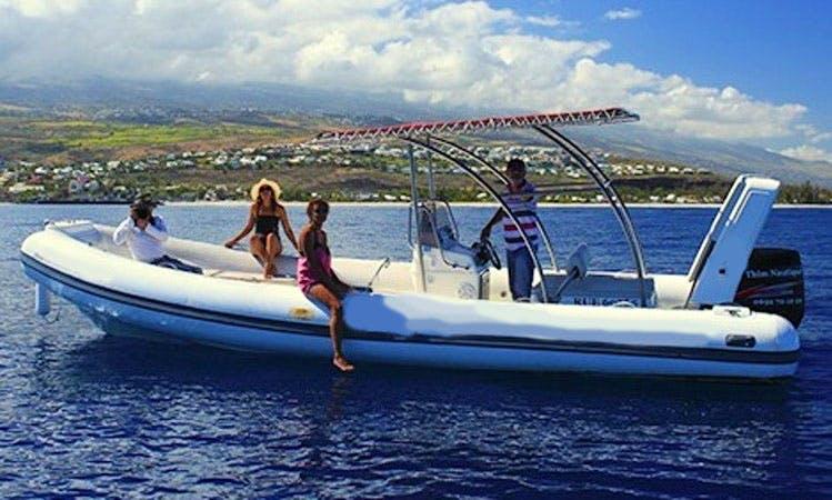 Rent 25' Rigid Inflatable Boat in Saint-Gilles, Réunion