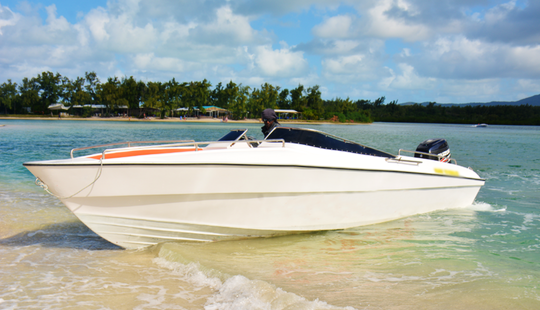 Enjoy Sightseeing In Quatre Cocos, Mauritius On A Bowrider Boat!