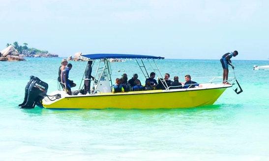 Dive Boat  In Seychelles