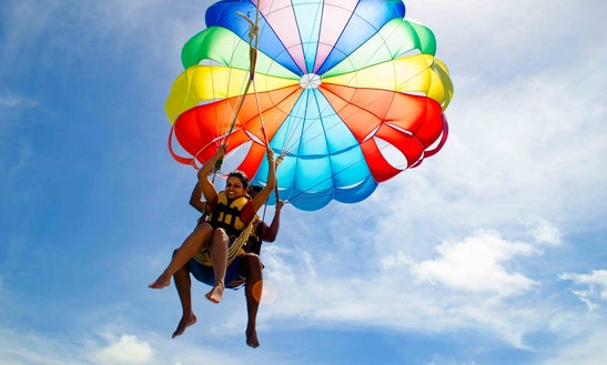 Parasailing From Cabeza De Toro Beach