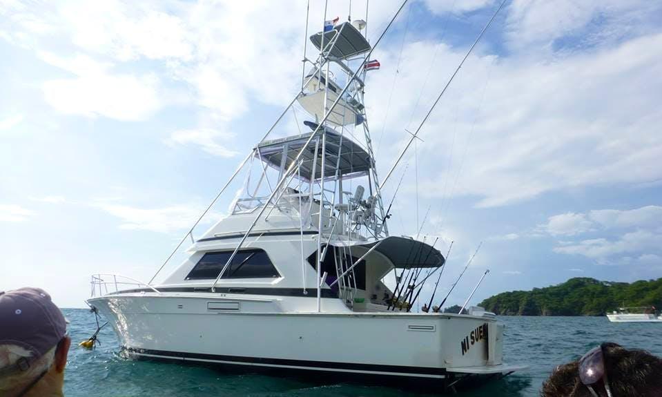 Enjoy Fishing in Sardinal de Carrillo, Costa Rica on 37' Bertram Sport Fisherman