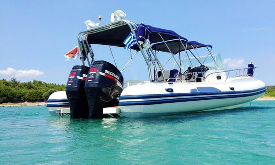 Rent 30' Capelli Tempest Rigid Inflatable Boat In Lavrio, Greece