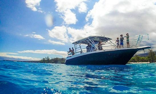 "Charter 38ft ""hoku Elima"" Cruiser Center Console In Kailua-kona, Hawaii"