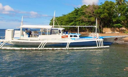 Wooden Boat  In Central Visayas, Philippines