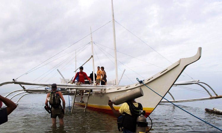 Wooden Boat in  Bagamanoc